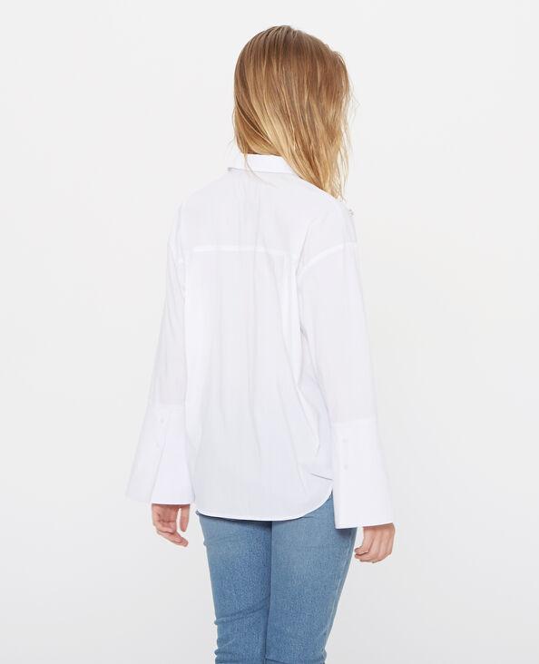 Camisa con bisutería blanco