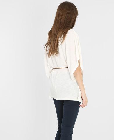 T-shirt ampia con cintura bianco sporco