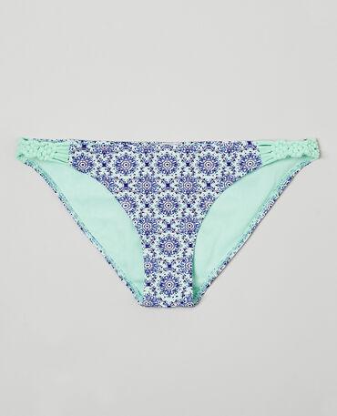 Bas de maillot de bain imprimé mosaïque Bleu