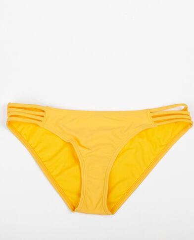 Bas de bikini à liens jaune