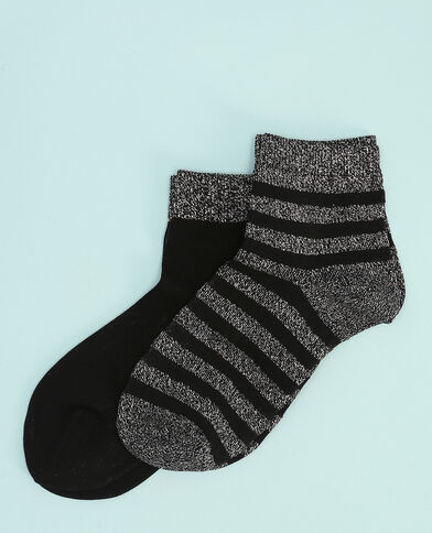 Lote de calcetines de lúrex negro