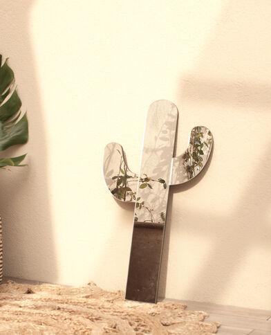 Specchio cactus grigio paillettato