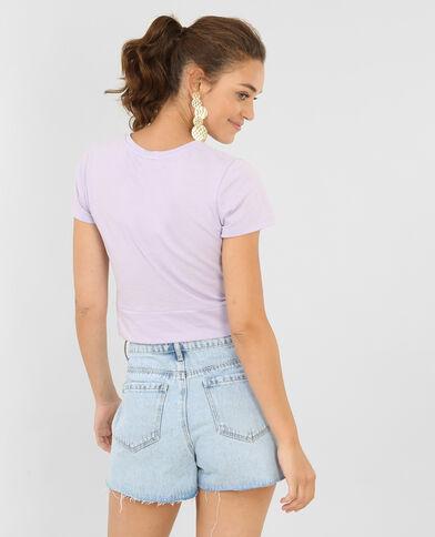 Cropped top twisté violet
