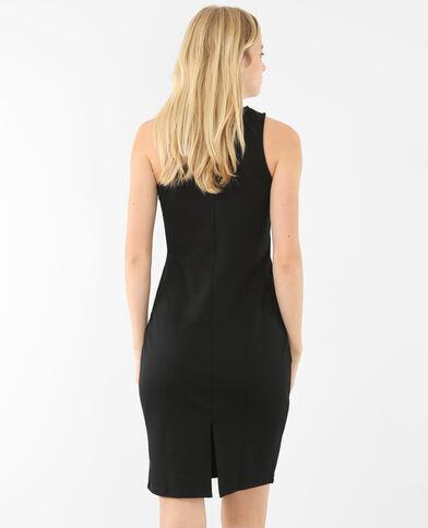 Einseitig schulterfreies Kleid Schwarz