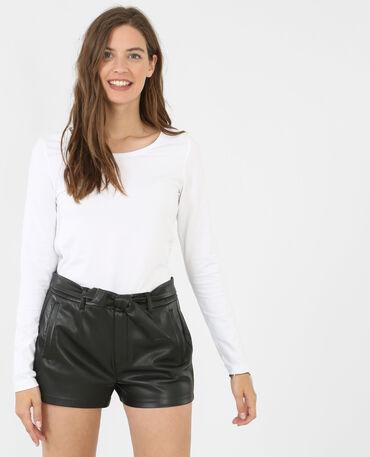 Einfaches T-Shirt Weiß