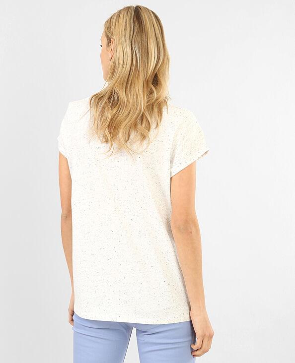 Gespikkeld T-shirt voor dames gemêleerd grijs