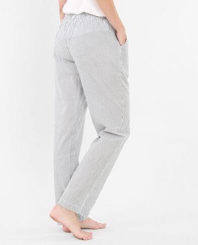 Bas de pyjama rayé blanc