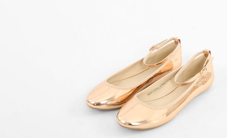 Ballerina's met afneembaar bandje Kupferrot