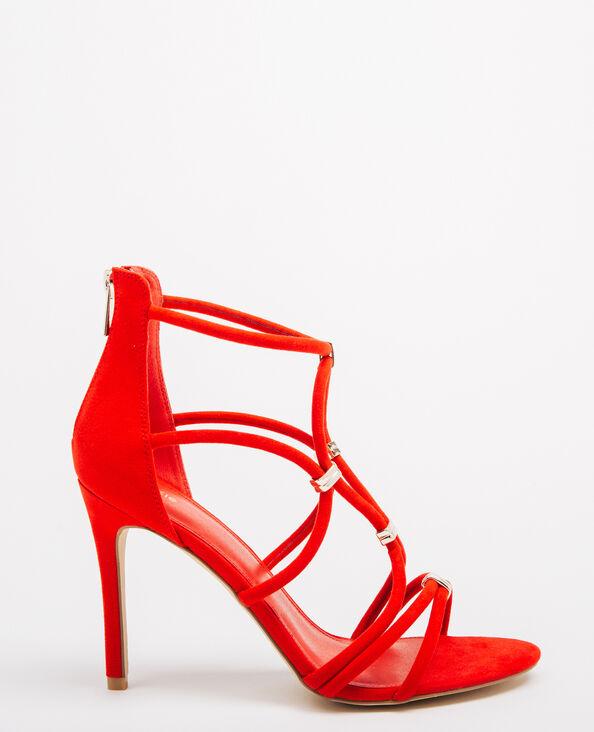 Sandalias de tacón de aguja rojo
