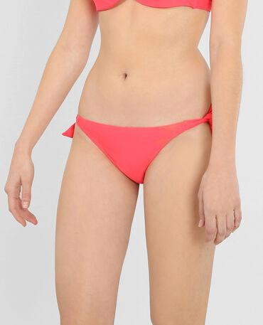Bas de maillot de bain fluo rouge