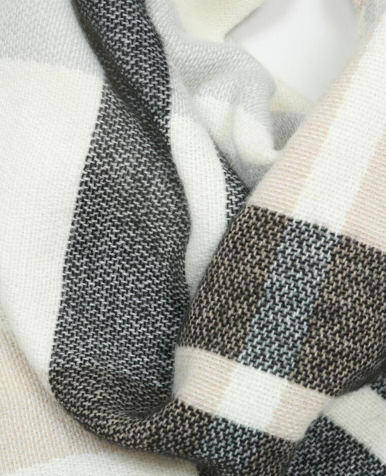 Echarpe plaid carreaux blanc 902126901b38 pimkie for Echarpe a carreaux