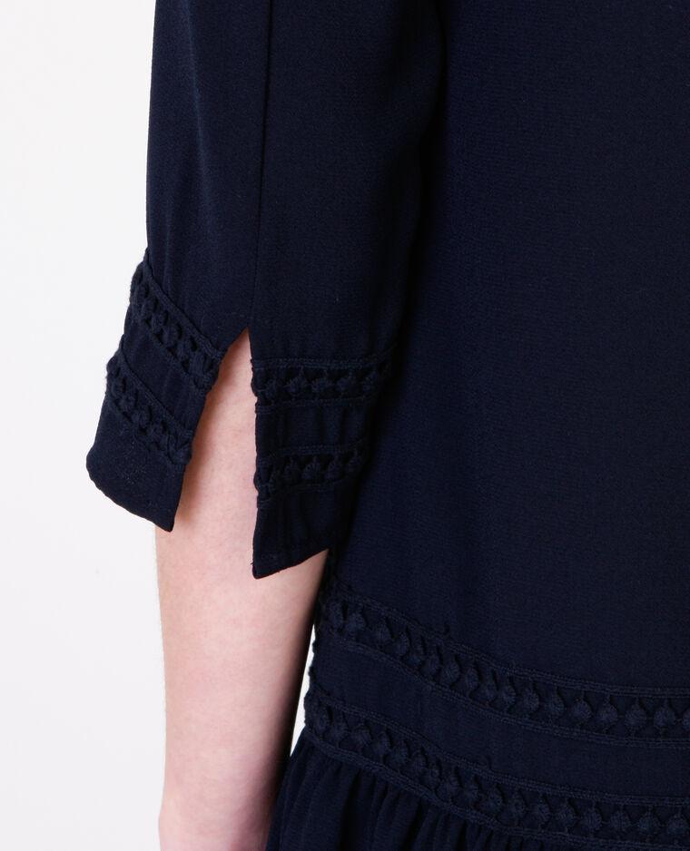 Peplum-Kleid Marineblau