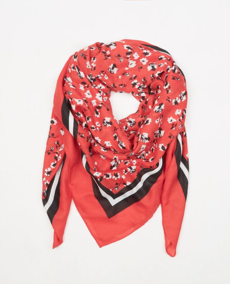 Foulard stampato rosso