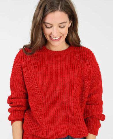 Pull in maglia spessa Rosso