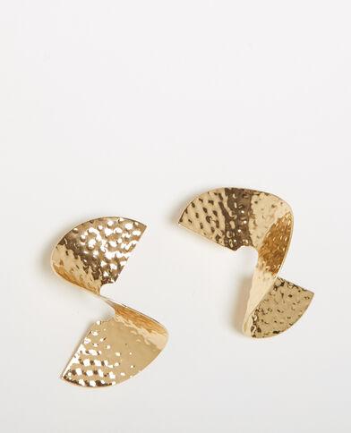 Spiraalvormige oorbellen goudkleurig