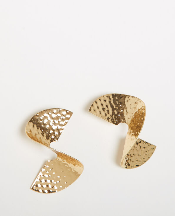 Boucles d'oreilles en spirale doré