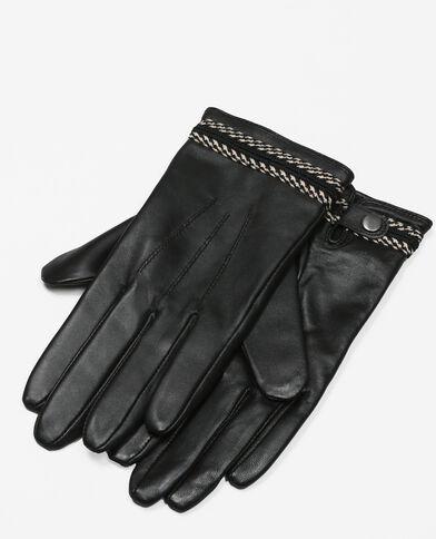 Guanti con bordino nero