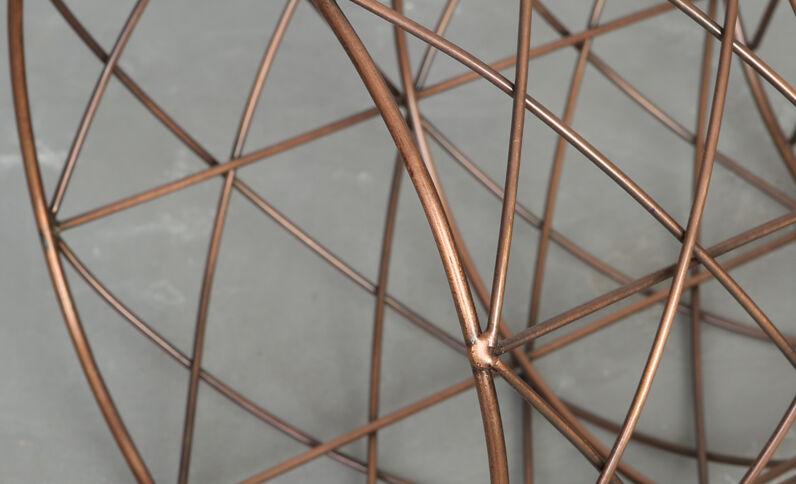 Corbeille métallique cuivré