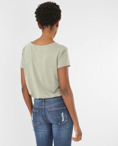 Camiseta cuello cruzado verde