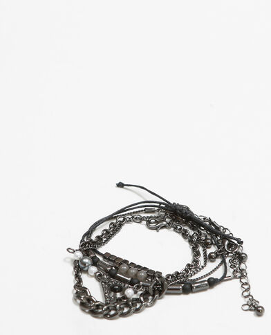 Lot de bracelets rock noir