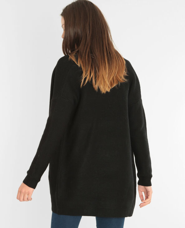 Cardigan media lunghezza nero