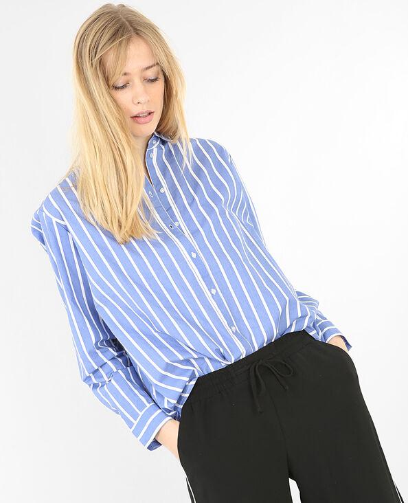 Camisa algodón a rayas Azul vaquero
