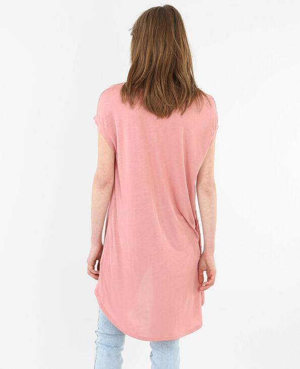 Camiseta larga rosa