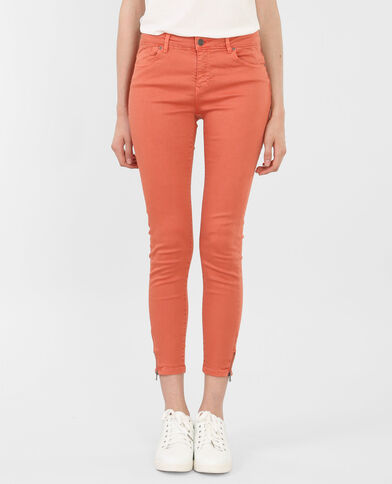 Skinny con zip rosso
