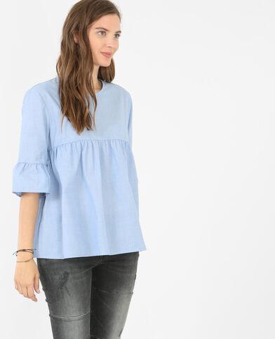 Camisa peplum azul
