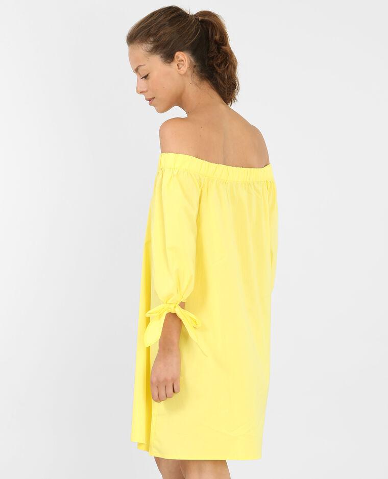 robe boutonn e col bardot jaune 780689018a00 pimkie. Black Bedroom Furniture Sets. Home Design Ideas