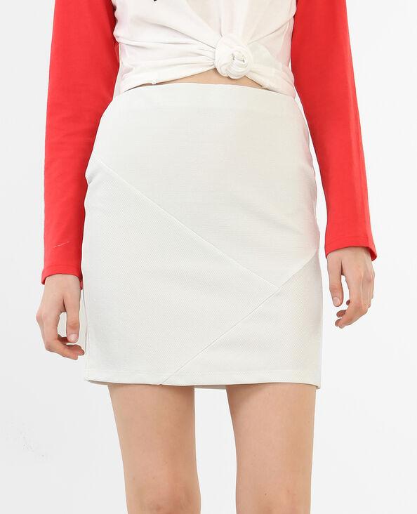 Mini jupe pailletée écru