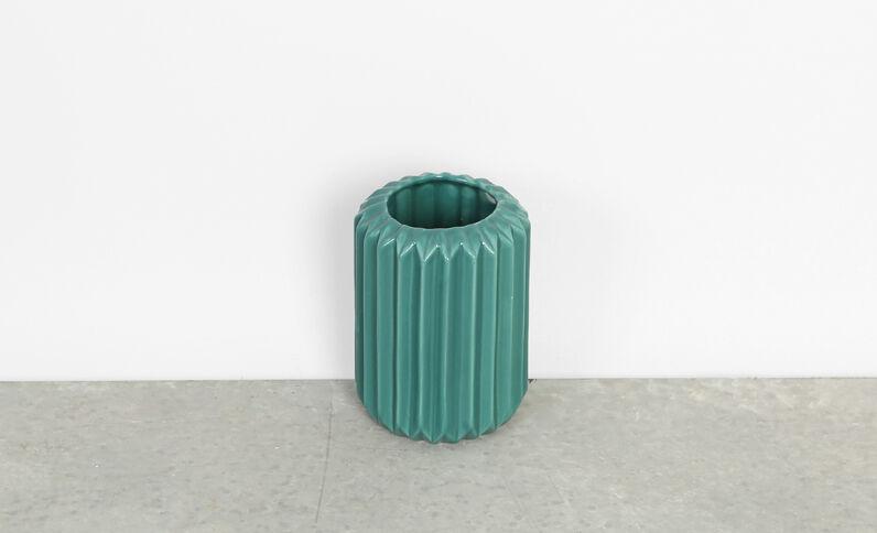 Vase céramique kaki