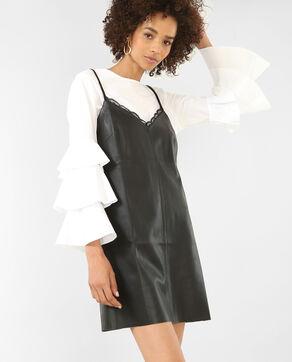 Kleid aus Kunstleder Schwarz