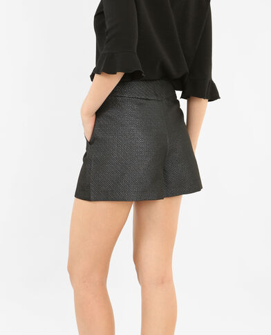 Shorts mit hohem Bund Schwarz