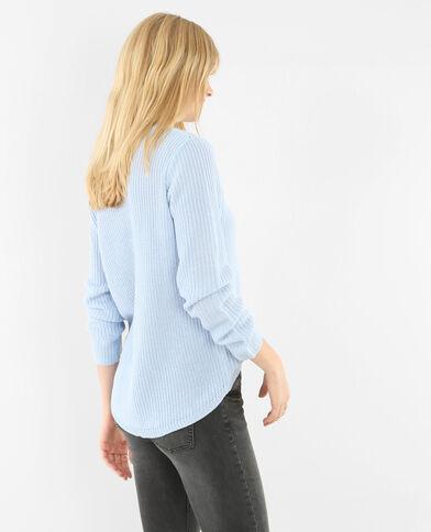 Pullover mit rundem Halsausschnitt Hellblau