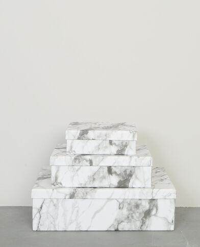 Set aus 3 Schachteln Weiß