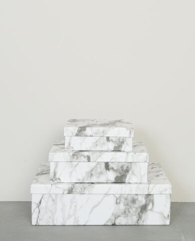 Lot de 3 boîtes blanc
