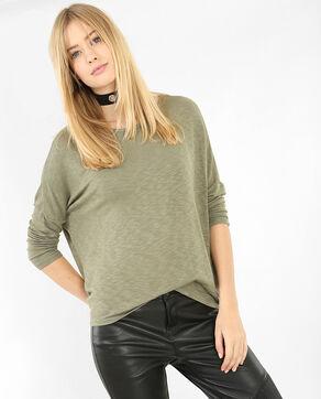 T-Shirt mit Fledermaus-Ärmeln Grün