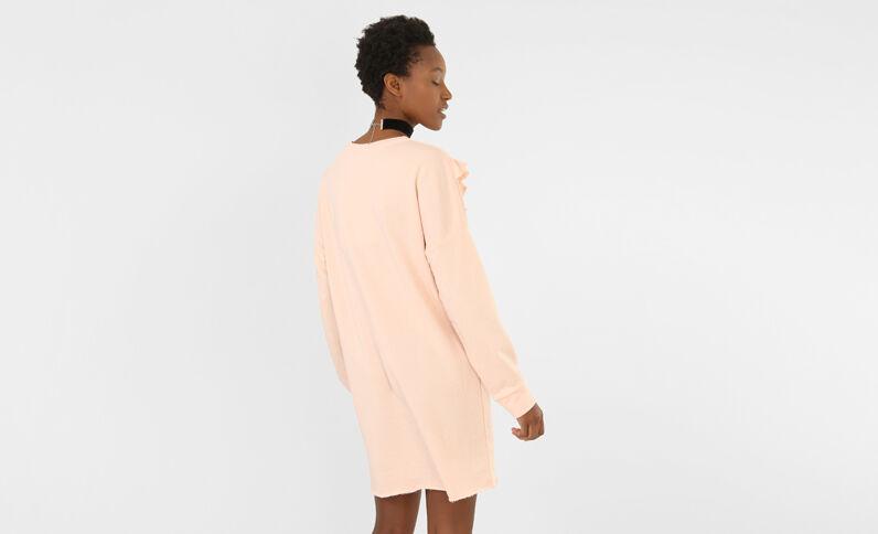 Sweatshirt-Kleid mit Rüschen Rosa
