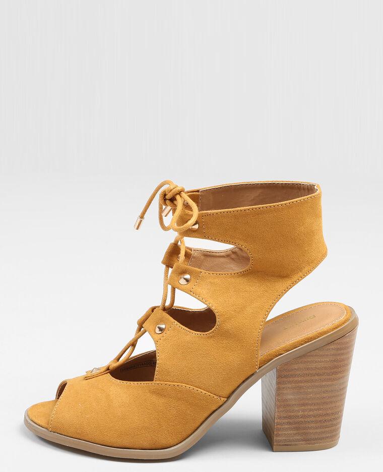sandales talon style spartiates moutarde 988068014a00 pimkie. Black Bedroom Furniture Sets. Home Design Ideas
