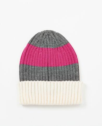 Gestreifte Mütze Pink