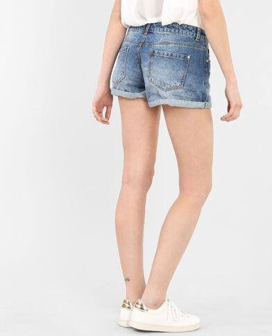 Shorts con vuelta azul