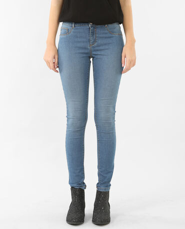 Jeggings basic blu cielo