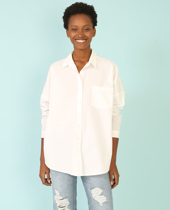 Chemise broderie dos blanc