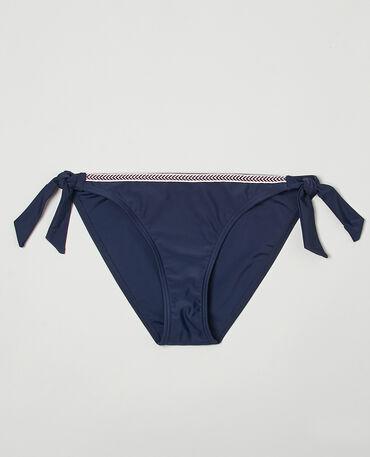 Culotte de bikini à nouer bleu marine