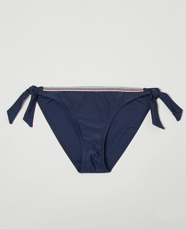 Bikinibroekje om vast te knopen marineblauw