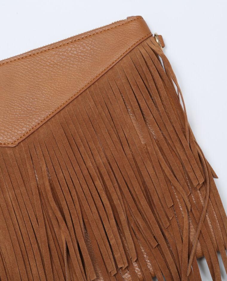 Tasche mit Fransen Orangebraun