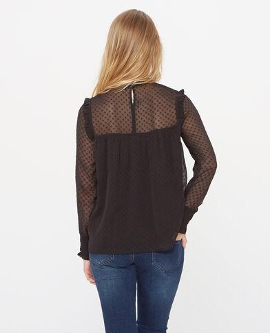 Blusa de plumetis negro