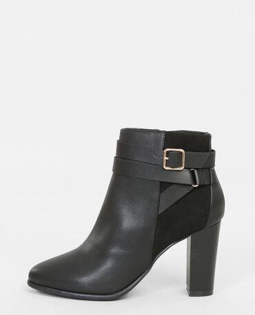 Boots con fibbie sulle caviglie nero