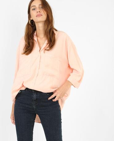 Schön fallendes XL-Hemd Rosa